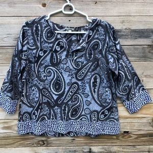 Anthropologie | Manglam Paisley Print Top Size L
